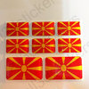 Pegatinas Relieve Bandera Republica de Macedonia 3D