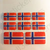 Stickers Resin Domed Flag Norway 3D