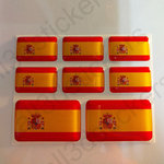 Stickers Resin Domed Flag Spain 3D