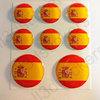 Round Stickers Flag Spain 3D