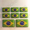 Stickers Resin Domed Flag Brazil 3D