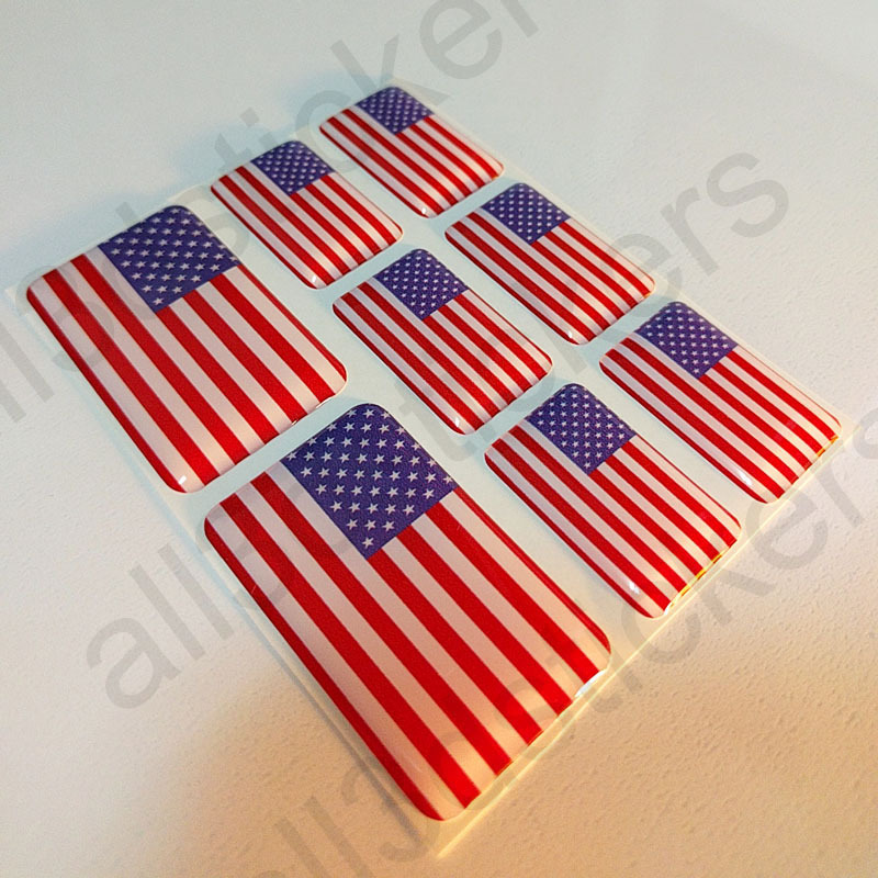 Adesivi Bandiera Stati Uniti d'America 3D