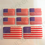 Stickers Resin Domed Flag United States USA 3D