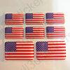 Autocollant États-Unis d'Amérique Drapeau Résine 3D Vinyle Adhésif - Relief