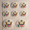 Round Stickers Coat of Arms United States USA 3D
