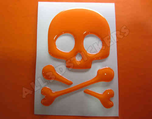 3D Sticker Pirate Skull