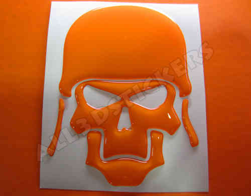 3D Sticker Skull Army
