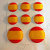 Round Stickers Flag Spain 2 3D