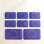 Stickers Resin Domed Flag Europe 3D
