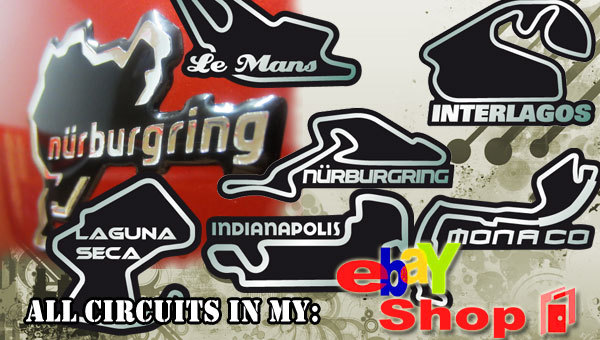 Nurburgring 3D domed sticker 4 cm